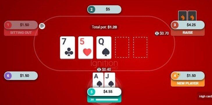 foto de uma partida de poker real na bodog